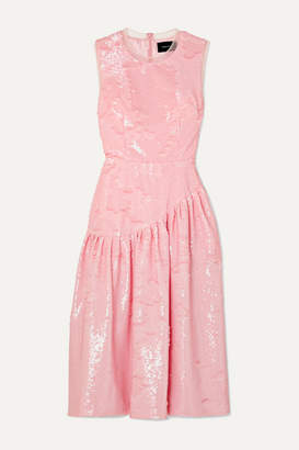 Simone Rocha Frame Sequined Tulle Midi Dress - Pink