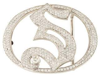 Jacob & co 14K Diamond 'S' Belt Buckle