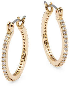 Kate Spade Clink of Ice Small Crystal Pave Hoops