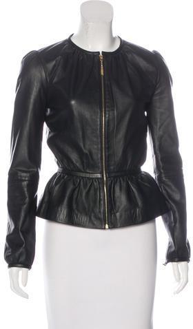 Vanessa BrunoVanessa Bruno Leather Peplum Jacket