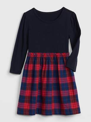 Gap Flannel Mix-Fabric Dress