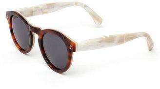 Illesteva Leonard Round Two-Tone Sunglasses, Tortoise/Cream $177 thestylecure.com