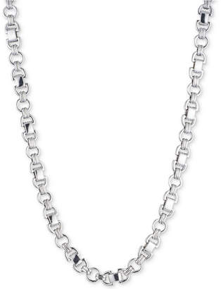 DKNY Silver-Tone D-Link Collar Necklace