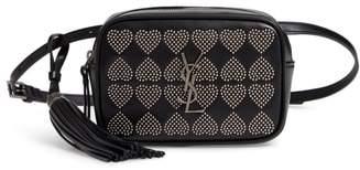 Saint Laurent Micro Lou Stud Hearts Calfskin Leather Belt Bag