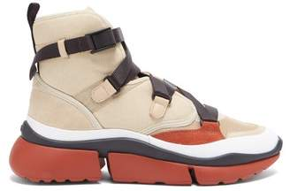 Chloé Sonnie Raised Sole High Top Trainers - Womens - Beige