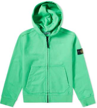 Stone Island Junior Garment Dyed Zip Hoody