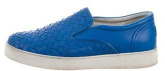 Bottega Veneta Intrecciato Leather Sneakers