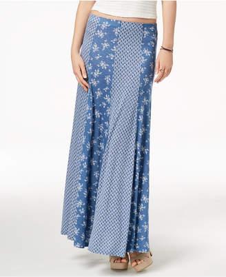 American Rag Juniors' Mixed-Print Maxi Skirt, Created for Macy's