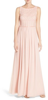 Women's Adrianna Papell Embellished Bodice Sleeveless Chiffon Gown $198 thestylecure.com