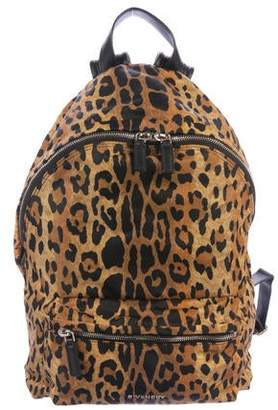 Givenchy Leopard Print Nylon Backpack