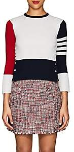 Thom Browne Women's Colorblocked Cashmere Sweater