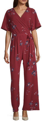 Trixxi Short Sleeve Jumpsuit-Juniors
