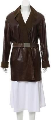 Chanel Short Leather Coat