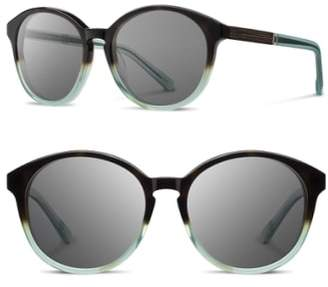 Shwood 'Bailey' 53mm Round Sunglasses