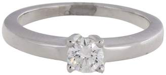 Cartier White Gold Diamond Ring Size 3.75, 0.24ct twd, color:F