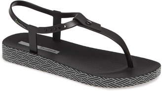 Ipanema Plush Weave T-Strap Sandal