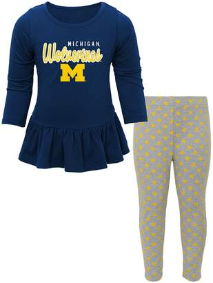 NCAA Kohl's Baby Michigan Wolverines Tiny Trainer Tee & Leggings Set