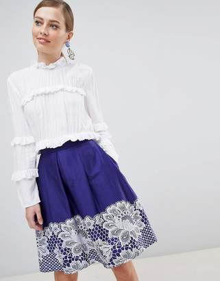 Closet London Lace Hem Skirts