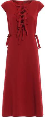 Bottega Veneta Bow Front Midi Dress
