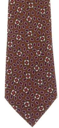 Chanel Abstract Print Silk Tie brown Abstract Print Silk Tie