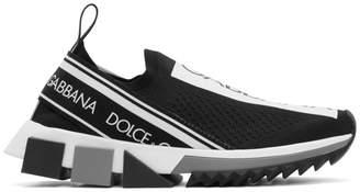 Dolce & Gabbana Black Sorrento Slip-On Sneakers