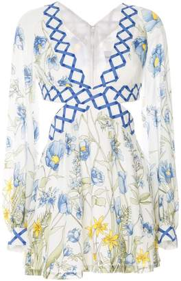 Alice McCall floral print cut out dress