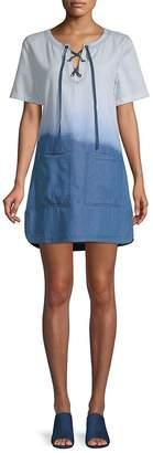 Ppla Women's Everlane Lace-Up Denim Dress