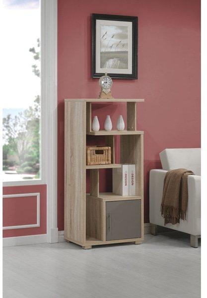 AcmeAcme Helsa Light Oak Finished Bookcase with Door