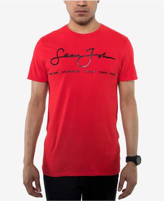 Sean John Men's Signature Script T-Shirt
