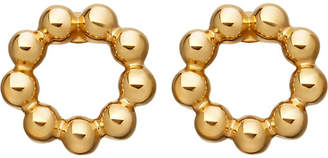 Astley Clarke Beaded Stilla 18ct yellow gold-plated stud earrings