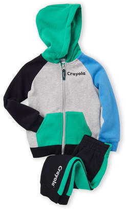 Crayola Toddler Boys) Color Play Full Zip Sweat Hoodie & Joggers Set