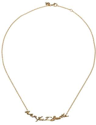 Stephen Webster 'Neon With You I Breathe' 18k yellow gold pendant necklace