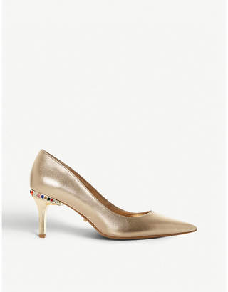 Dune Bellowescrystal embellished leather courts