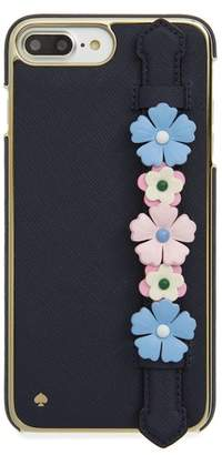 Kate Spade floral hand strap stand iPhone 7/8 Plus case