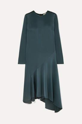 Jason Wu GREY Asymmetric Satin Dress - Petrol