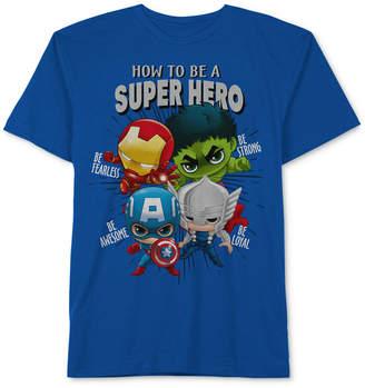 Marvel Little Boys Hero-Print Cotton T-Shirt