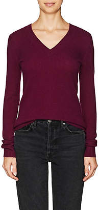 Barneys New York WOMEN'S CASHMERE V-NECK SWEATER - PURPLE SIZE S