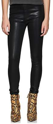 Rag & Bone Women's Coated High-Rise Skinny Jeans - Black