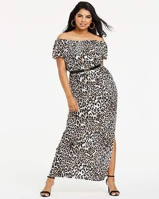 Quiz Curve Animal Printed Maxi Dress