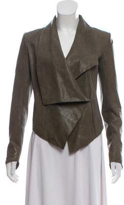 Helmut Lang Crop Leather Jacket