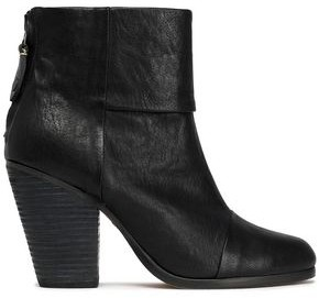 Rag & Bone Brushed-Leather Ankle Boots