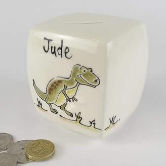 fired arts and crafts Personalised Ceramic Money Box