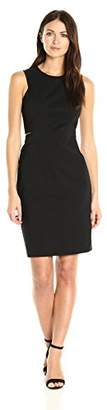 Calvin Klein Women's Compression Fabric Sheath Dress with Side Cut Outs