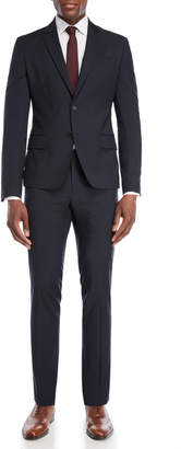 Roberto Cavalli Two-Piece Solid Blue Suit
