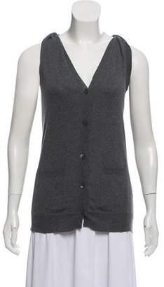 Miu Miu Sleeveless Button-Up Cardigan
