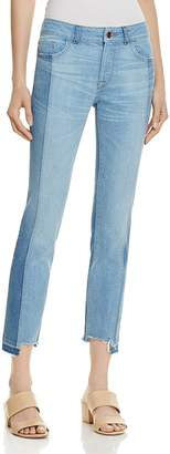 DL1961 Mara Instasculpt Ankle Straight Step-Hem Jeans in Combo - 100% Exclusive $198 thestylecure.com