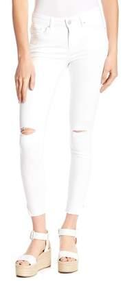 William Rast Distressed Raw Hem Skinny Jeans