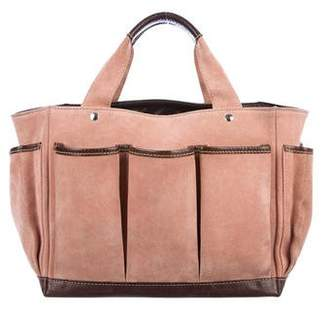 Barneys New York Barney's New York Leather-Trimmed Tote