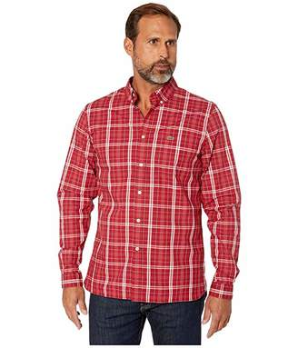 Lacoste Long Sleeve Popeline Stretch Gingham Woven Slim Shirt