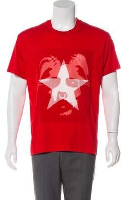 Givenchy Silk-Paneled Graphic T-Shirt